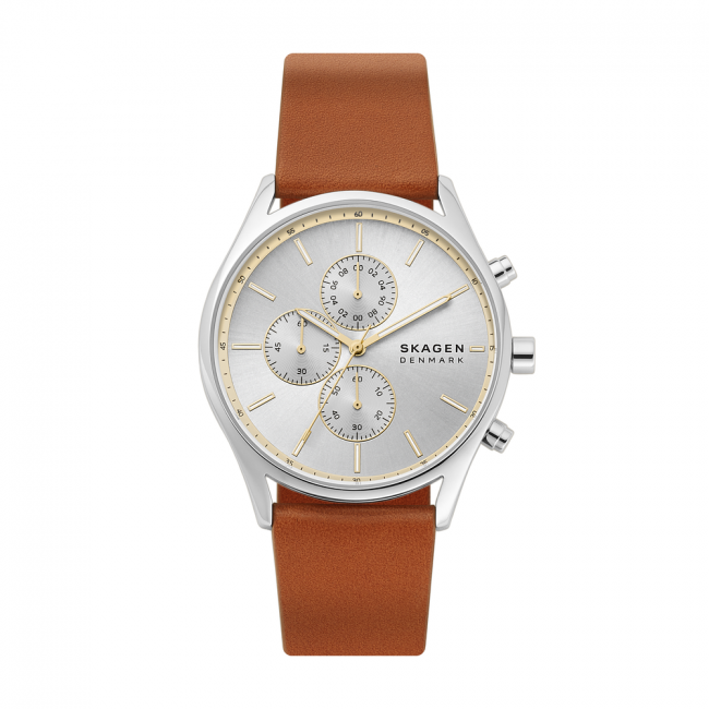 Uhr SKAGEN - Holst Chronograph SKW6607  Brown/Silver