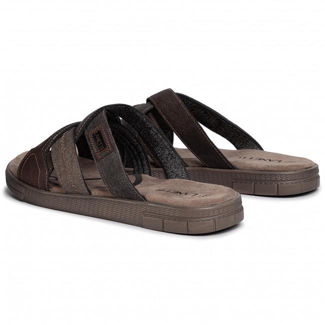 Pantoletten LANETTI - MSS20231-09 Brown - Pantoletten - Pantoletten und Sandaletten - Herrenschuhe 4rGfDOl2