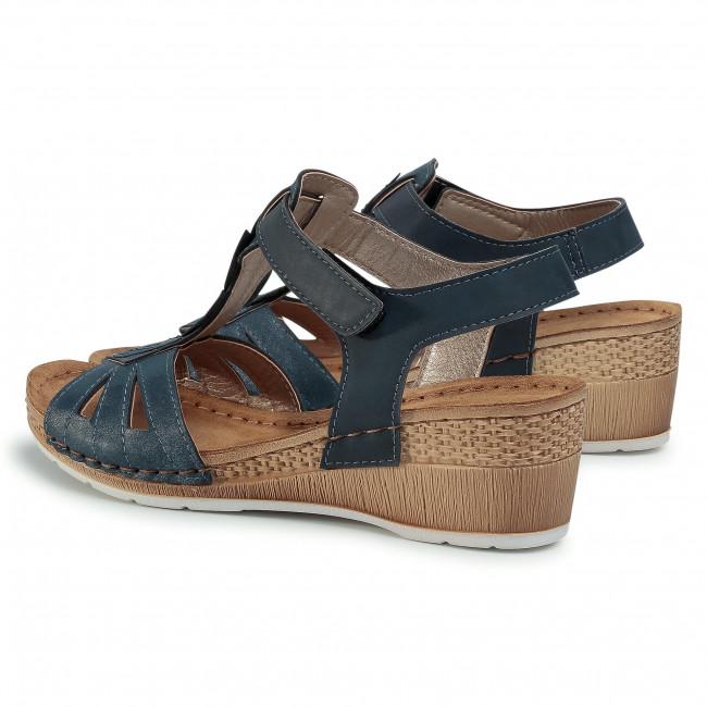 Sandalen INBLU - EPABOO01 Cobalt Blue - Keilabsatz - Pantoletten und Sandaletten - Damenschuhe 7J8H55Ms