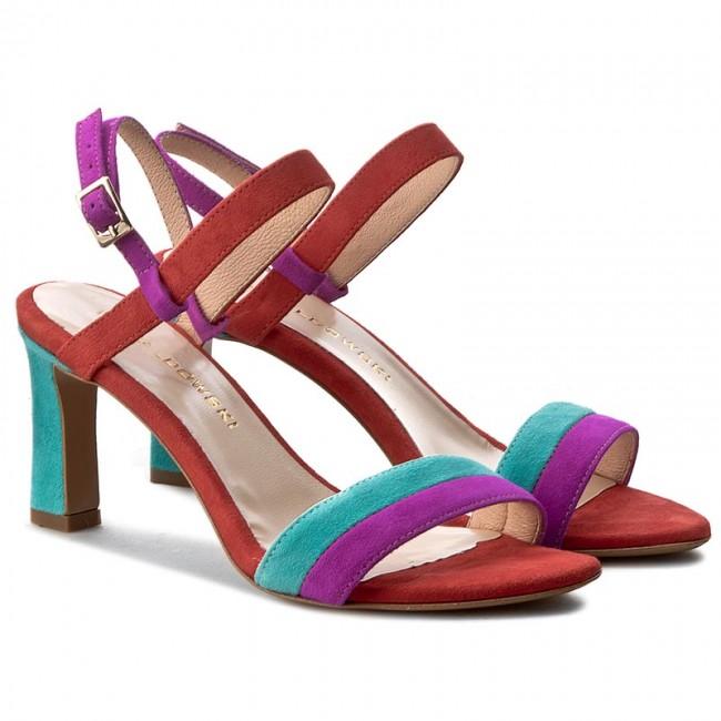 Sandales BALDOWSKI - W00098-7633-001 Zamsz Fuxia/Turkus/Czerwony - Sandales décontractées - Sandales - Mules et sandales - Femme RV5VDAmI