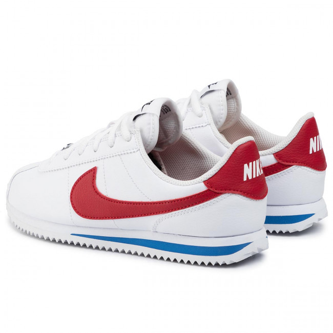 Chaussures NIKE - Cortez Basic Sl (GS) 904764 103 White/Varsity Red