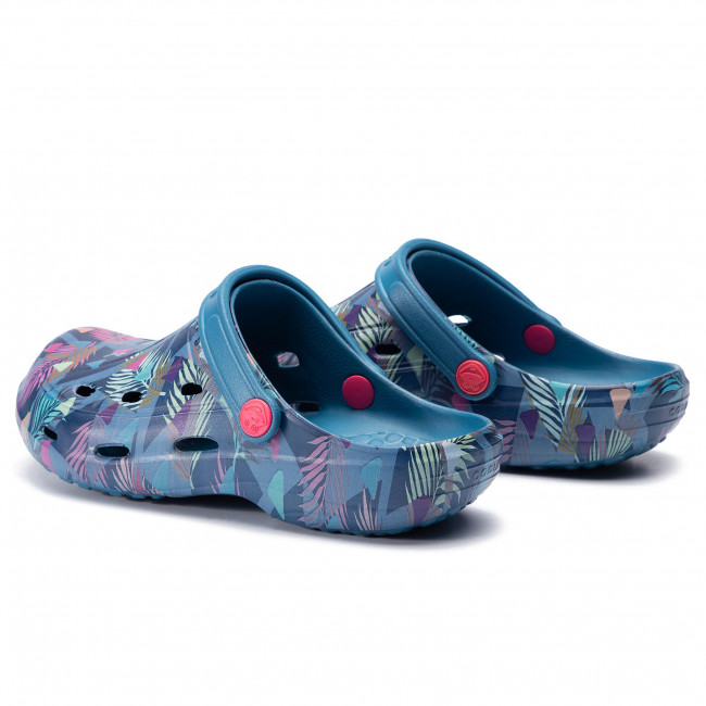Mules / sandales de bain COQUI - Tina Printed 1353-206-5100 Niagara Blue/Tropical Triangles - Mules décontractées - Mules - Mules et sandales - Femme 2f0ICaXl