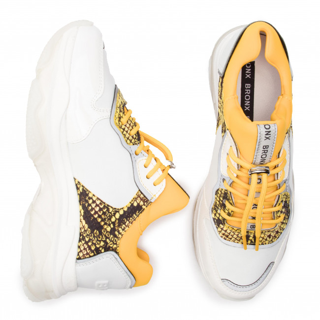 Sneakers BRONX - 66167D-HA BX 1525 White/Yellow 162 - Sneakers - Chaussures basses - Femme rroP1DEO