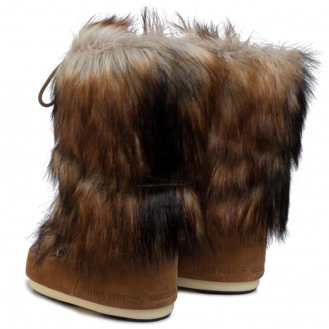 Bottes de neige MOON BOOT - Mb Classic Faux Fox 140250001 Whisky - Bottes de neige - Bottes et autres - Femme 5b4ZCfvf