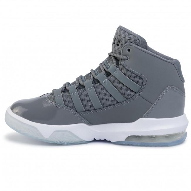 Chaussures NIKE - Jordan Max Aura AQ9214 010 Cool Grey/Black/White Clear - À lacets - Chaussures basses - Garçon - Enfant w2I2GkXH