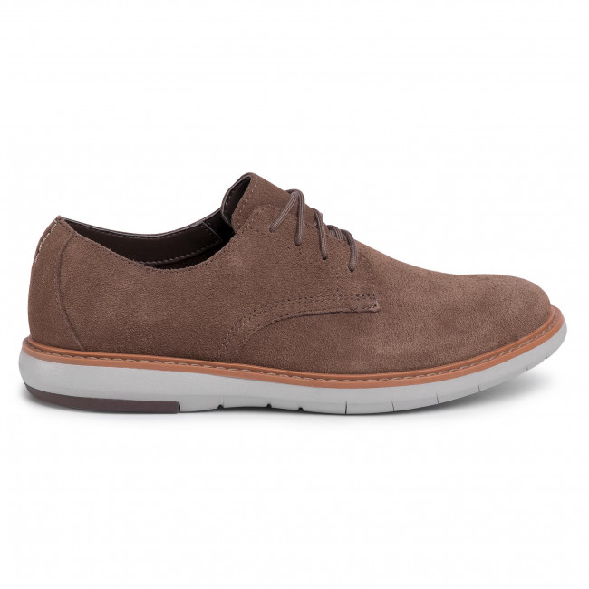 Chaussures basses CLARKS - Draper Lace 261496357 Olive Suede