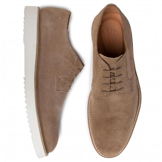 Chaussures basses CLARKS - Ernest Walk 261497107 Dark Sand Suede