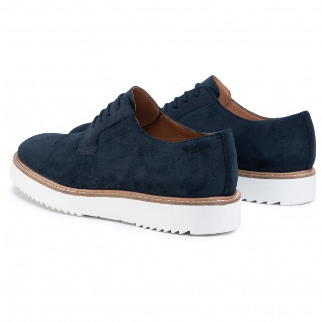 Chaussures basses CLARKS - Ernest Walk 261497117 Navy Suede