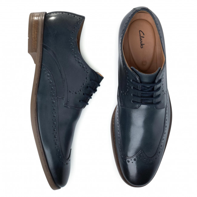 Chaussures basses CLARKS - Stanford Limit 261498407 Navy Leather - Soirée - Chaussures basses - Homme z5bsIqel