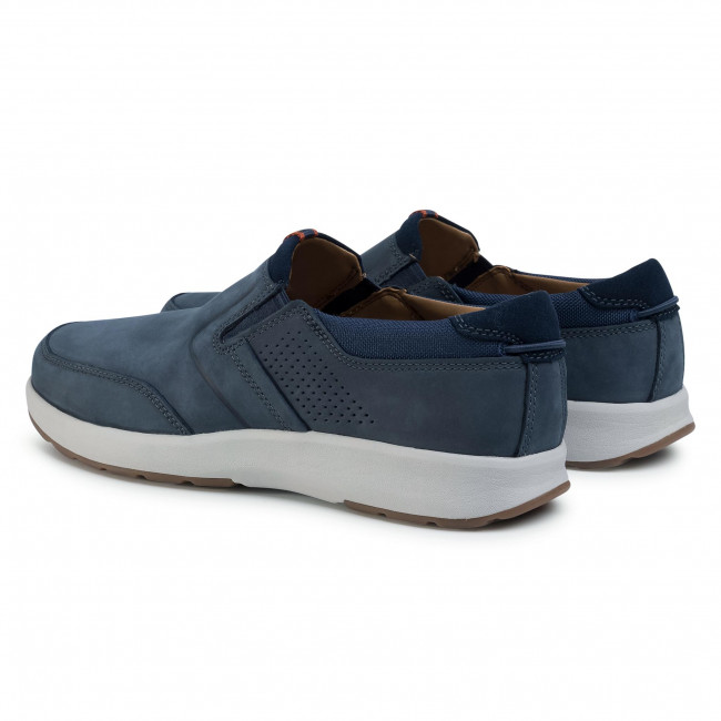 Chaussures basses CLARKS - Un trail Step 261403807 Navy Nubuck