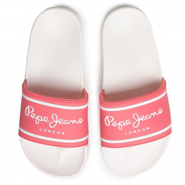 Mules / sandales de bain PEPE JEANS - Slider Logo Girl PGS70031 Pink 325 - Mules - Mules et sandales - Fille - Enfant wKcyLYI3