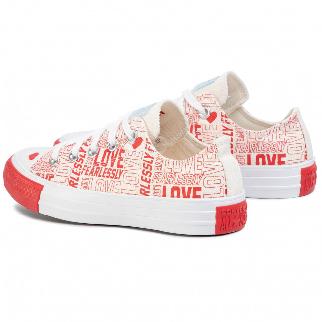 Sneakers CONVERSE - Ctas Ox 567311C Egret/University Red/White - Baskets - Chaussures basses - Femme KiO7Ga98