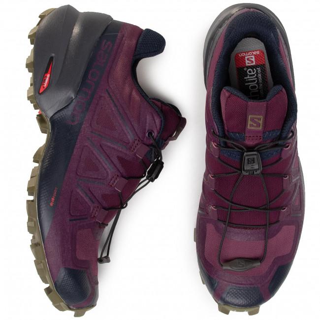 Chaussures SALOMON - Speedcross 5 409260 20 G0 Potent Purple/Ebony/Burn Olive - Randonnée - Running - Chaussures de sport - Femme bY6wYCtH