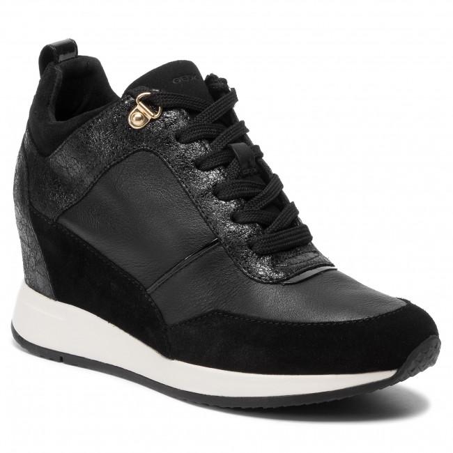 ria824cd5 nydame donna black scarpe con zeppa geox donna